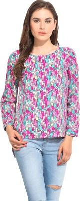 Instacrush Casual Full Sleeve Printed Women,s Multicolor Top