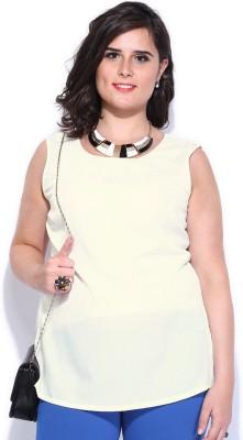Dressberry Casual Sleeveless Solid Women's Beige Top
