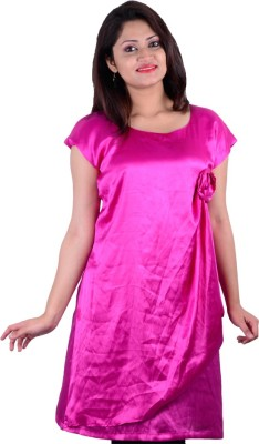 SMUK Party Cap sleeve Embellished Women's Pink Top