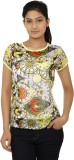 Ausehen Casual Short Sleeve Printed Wome...