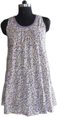 Beautiful Clothes Casual Sleeveless Polka Print Women's Purple Top