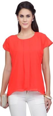 Viro Casual Short Sleeve Solid Women's Pink Top
