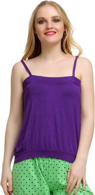 Private Lives Casual Sleeveless Solid Women's Purple Top