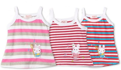 Camey Casual Sleeveless Striped Baby Girl's Multicolor Top