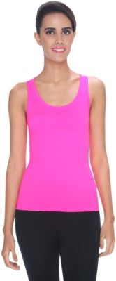 C9 Casual Sleeveless Solid Women's Pink Top
