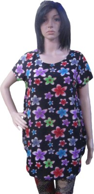 AARADHYA BOUTIQUE Casual Short Sleeve Floral Print Women,s Multicolor Top