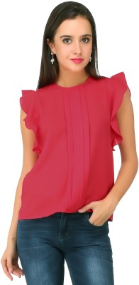 20Dresses Casual Sleeveless Solid Women's Pink Top