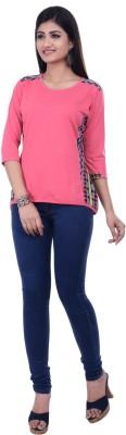 Rene Casual 3/4 Sleeve Printed Women's Pink Top