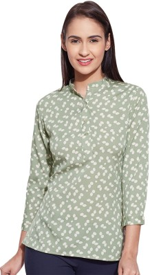 Lucero Casual 3/4 Sleeve Printed Women's Green Top