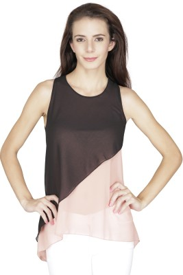 Svt Ada Collections Party Sleeveless Solid Women's Pink Top