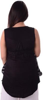 Shivi's Designer Studio Casual Sleeveless Printed Women's Multicolor Top