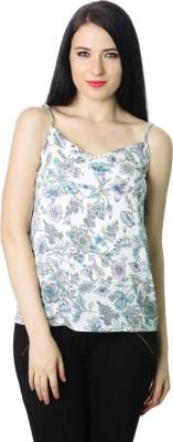 Fashley London Casual Noodle strap Floral Print Women,s White Top