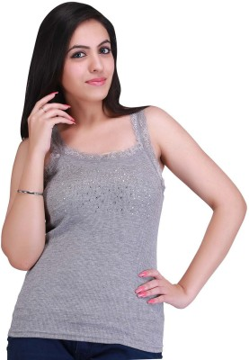 Nirosha Casual Sleeveless Solid Women's Grey Top