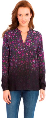 Vivante by VSA Casual Full Sleeve Printed Women's Purple Top