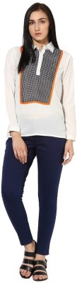 La Firangi Casual Full Sleeve Solid Women's White Top