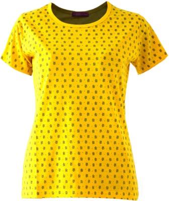 Groviano Casual Short Sleeve Printed Women's Yellow Top