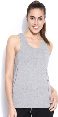Fila Casual Sleeveless Solid Women's Grey Top