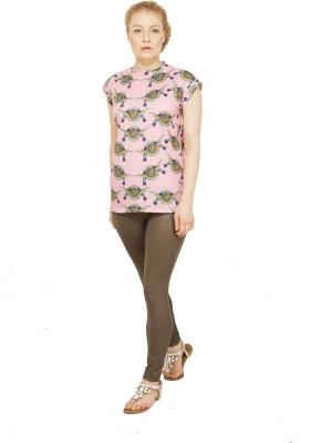 Disciple Casual, Party, Festive, Lounge Wear Short Sleeve Self Design Women's Multicolor Top