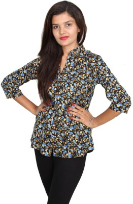 Vanya Enterprises Casual 3/4 Sleeve Floral Print Women's Multicolor Top