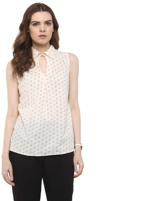 The Office Walk Formal Sleeveless Floral Print Women's Pink Top