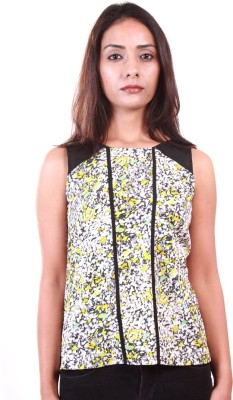 Ar2 Casual Sleeveless Printed Women's Multicolor Top