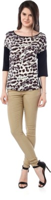 Miss Pink Casual 3/4 Sleeve Printed Girl's Multicolor Top
