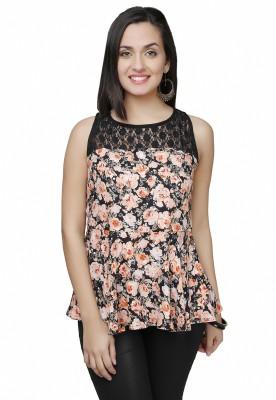 Eavan Casual Sleeveless Floral Print Women's Multicolor Top
