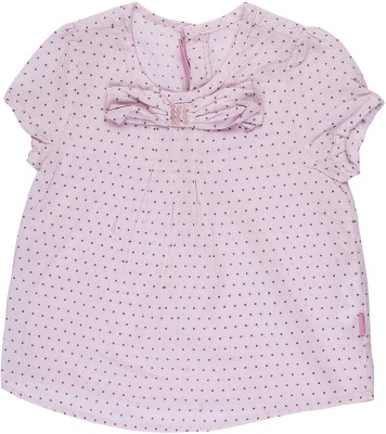 Addyvero Casual Short Sleeve Printed Baby Girl's Pink Top