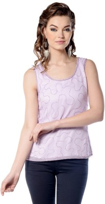 Trendy Divva Casual Full Sleeve Self Design Women's Pink Top