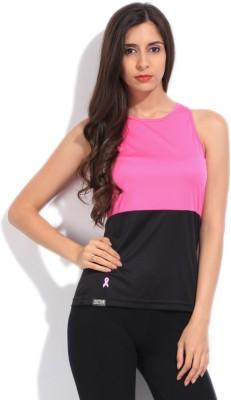 Adidas Sports Sleeveless Solid Women's Black, Pink Top