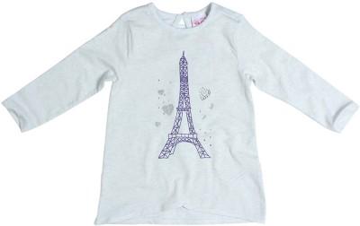 Mini Klub Casual Full Sleeve Solid Baby Girl's Grey Top