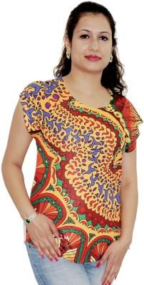 Pindia Printed Women's Round Neck T-Shirt