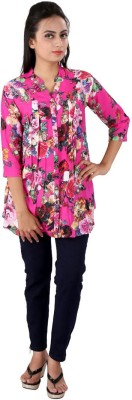 Go4it Casual, Party 3/4 Sleeve Floral Print Women,s Pink Top