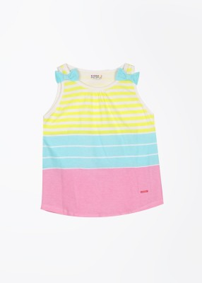 People Casual Sleeveless Striped Girl,s Top