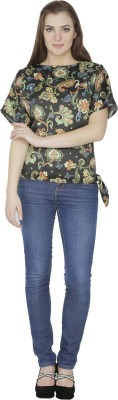 Famous by Payal Kapoor Casual Short Sleeve Floral Print Women's Multicolor Top