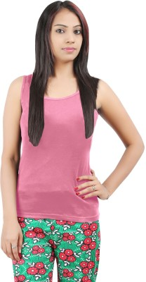 Softwear Casual Sleeveless Solid Women's Pink Top