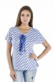 Zeupic Casual Short Sleeve Chevron Women...