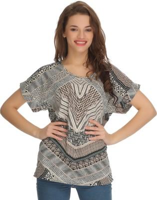 Clovia Casual Cape Sleeve Printed Women's Multicolor Top