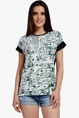 PNY Casual Short Sleeve Printed Women,s Multicolor Top