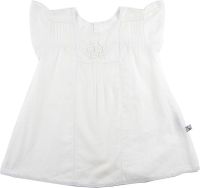 Mi Dulce An,ya Casual Short Sleeve Embroidered Baby Girl's White Top