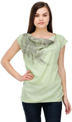 Lmode Casual Sleeveless Graphic Print Women's Light Green Top
