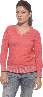 Pepe Casual Full Sleeve Solid Women's Pink Top