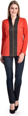 Shopping Queen Casual Full Sleeve Solid Women's Red Top