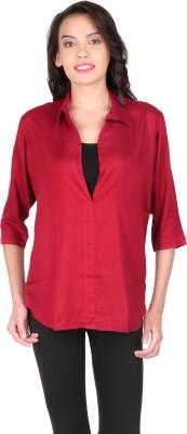 Belinda Casual, Party, Lounge Wear 3/4 Sleeve Solid Women's Pink Top