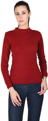 Mayuri Casual Full Sleeve Solid Women's Red Top
