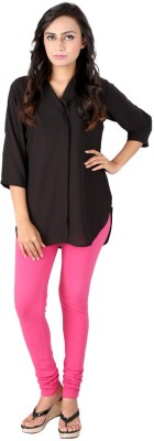 Go4it Casual, Party 3/4 Sleeve Solid Women,s Black Top