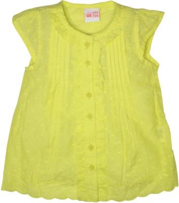 FS Mini Klub Casual Short Sleeve Printed Girl's Green Top