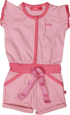Buzzy Casual Cap sleeve Striped Baby Girl's Pink Top