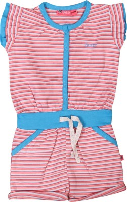 Buzzy Casual Cap sleeve Striped Baby Girl's Blue Top
