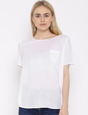 VAAK Casual Full Sleeve Solid Women's White Top